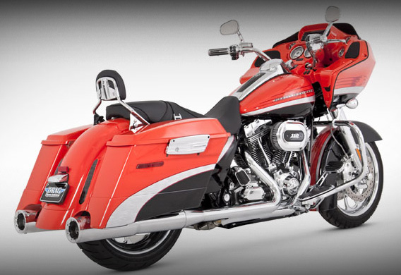 Vance & Hines Hi-Output Slip-On Exhaust - Harley Davidson Touring Models  (95-12)