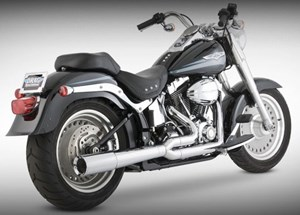 Vance & Hines Pro Pipe Chrome Exhaust - Harley Davidson Softail (86-11)