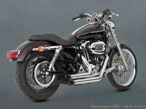 Vance & Hines Shortshots Staggered Exhaust - Harley Davidson Sportster (04-06)