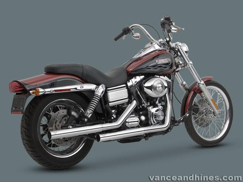 Vance & Hines Straightshots HS Slip-ons - Harley Davidson Dyna Glide (91-12)