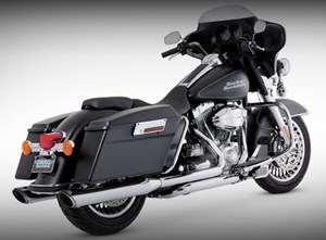 Vance & Hines Twin Slash Round Slip-On Mufflers - Harley Davidson Touring Models (95-12)