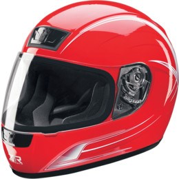 Z1R Phantom Warrior Full Face Helmet - Red