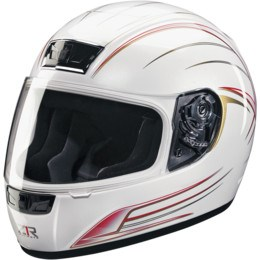 Z1R Phantom Warrior Full Face Helmet - White