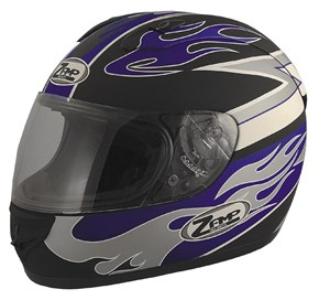 Zamp FJ-2 Full Face Helmet - Matte Blue Flame