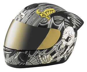 Zamp RZ-10 Full Face Helmet - Hang Loose Silver