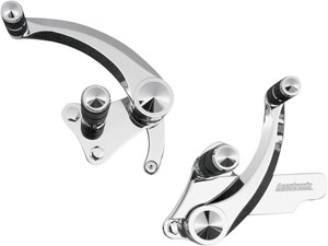 Accutronix Chrome Diamond Forward Controls - Honda VTX1800 (02-08)