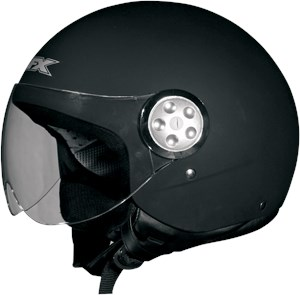 AFX FX-42 Pilot Open Face Scooter / Motorcycle Helmet - Flat Black