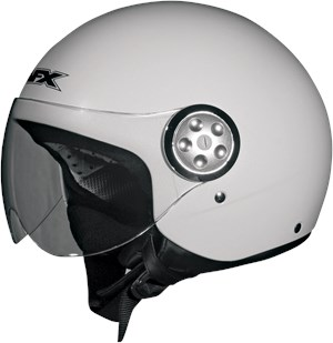 AFX FX-42 Pilot Open Face Scooter / Motorcycle Helmet - Pearl White