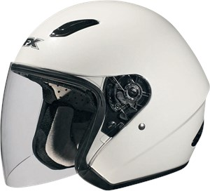 AFX FX-43 Open Face Motorcycle Helmet - Pearl White