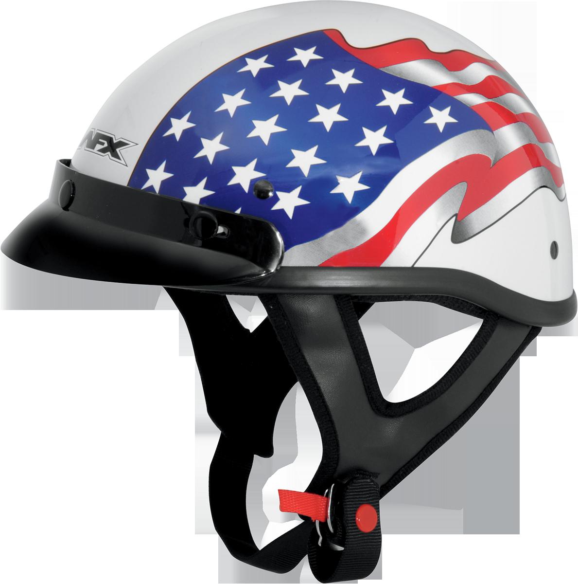Afx Fx-70 American Flag Beanie Motorcycle Half Helmet