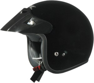 AFX FX-75 Open Face Youth Motorcycle Helmet - Black