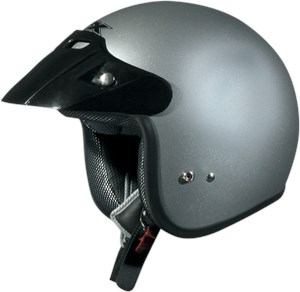 AFX FX-75 Open Face Youth Motorcycle Helmet - Silver