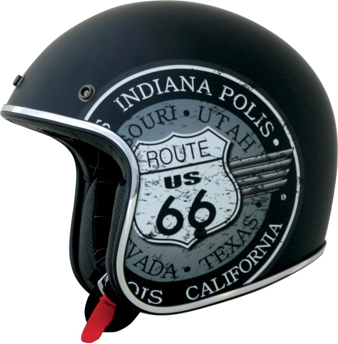 AFX FX-76 Route 66 Open Face Motorcycle Helmet