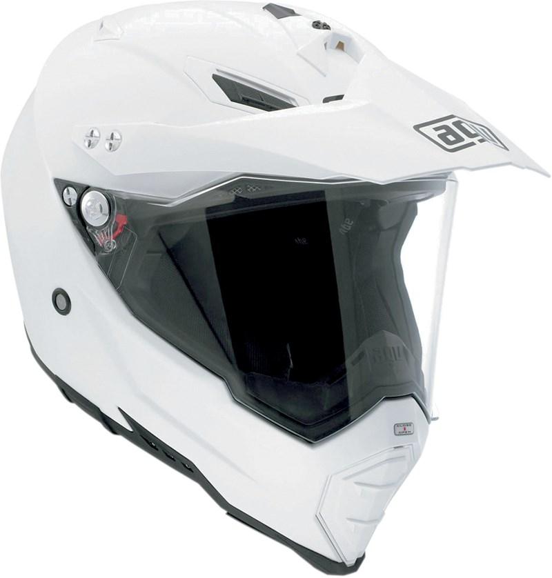 AGV AX-8 Dual Sport Evo Motorcycle Helmet - Black / White