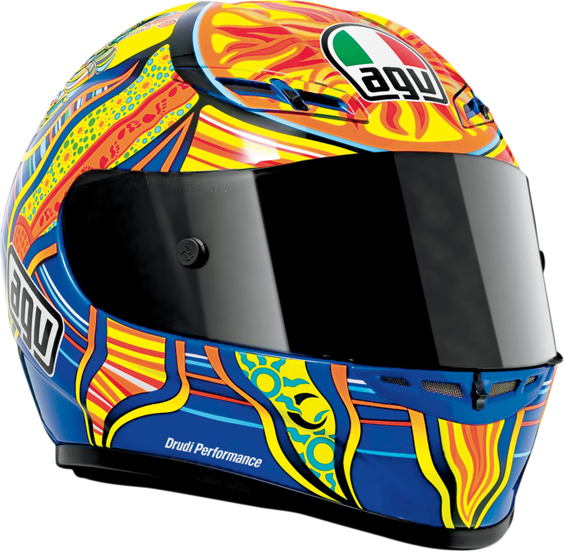 agv gp tech full face helmet rossi 5 continents. Black Bedroom Furniture Sets. Home Design Ideas
