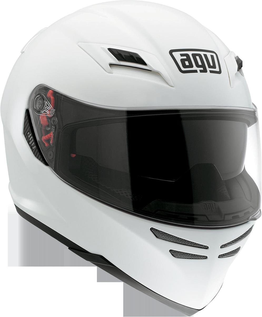 Carbon Fiber Motorcycle Helmets >> AGV Horizon Full Face Motorcycle Helmet - White