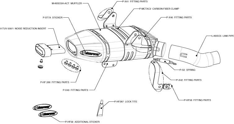 akrapovic slip-on exhaust system