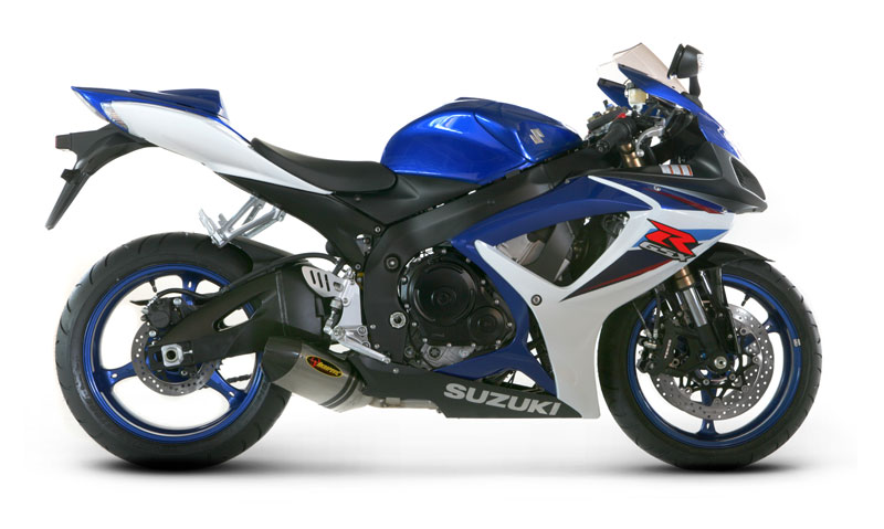 akrapovic slip on open exhaust system suzuki gsx r600 750 06 07. Black Bedroom Furniture Sets. Home Design Ideas