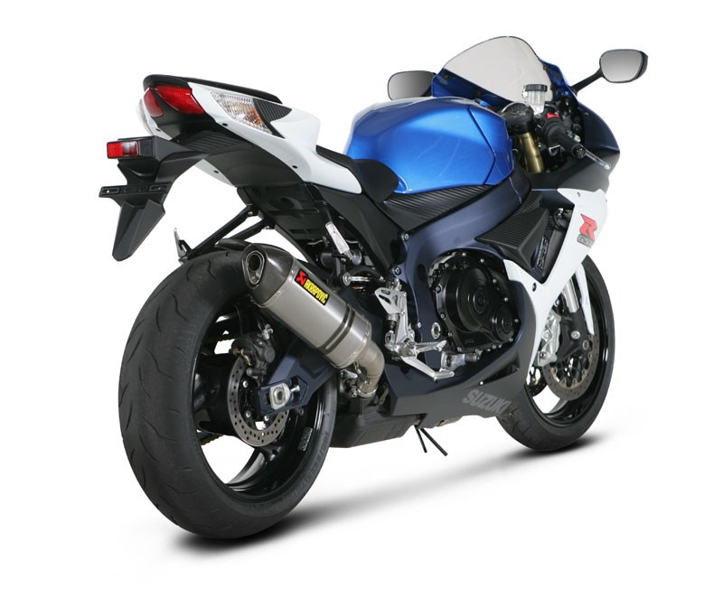 akrapovic street legal slip on exhaust suzuki gsx r750 2011. Black Bedroom Furniture Sets. Home Design Ideas