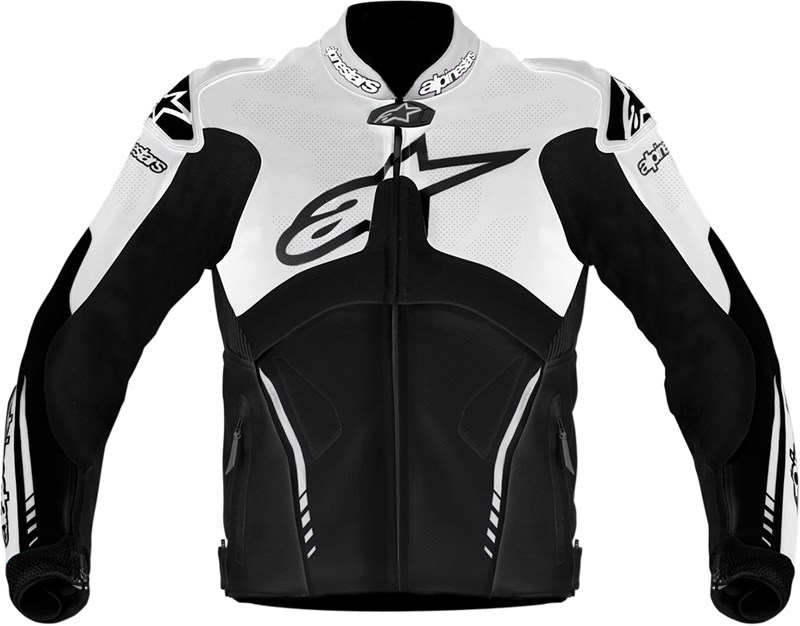 Alpine Motorcycle Gear >> Alpinestars Atem Leather Motorcycle Jacket - Black / White