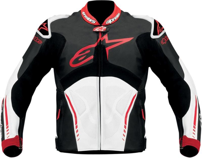 Alpinestars Atem Leather Motorcycle Jacket Black White