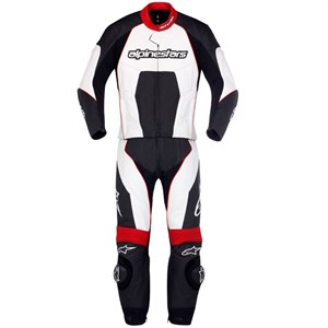 Alpinestars Carver Two-Piece Race Suit - Black / White / Red