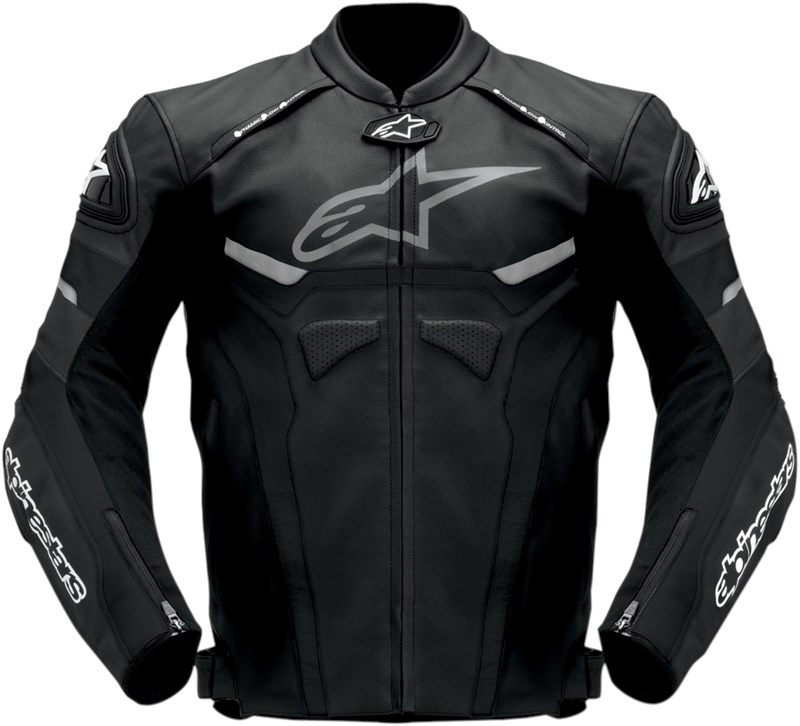 alpinestars celer leather motorcycle jacket black. Black Bedroom Furniture Sets. Home Design Ideas