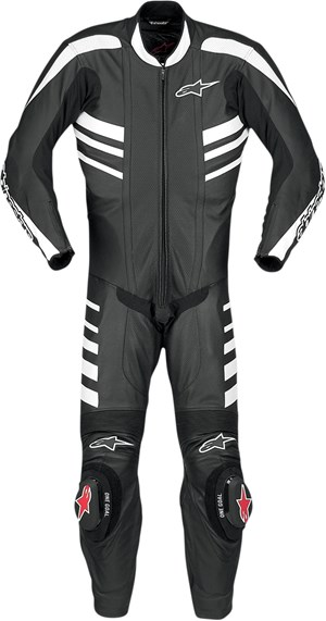Alpinestars CR One-Piece Leather Race Suit - Black