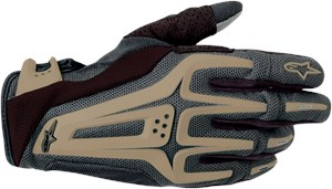 Alpinestars Dual Textile Offroad Motorcycle Gloves - Black / Tan