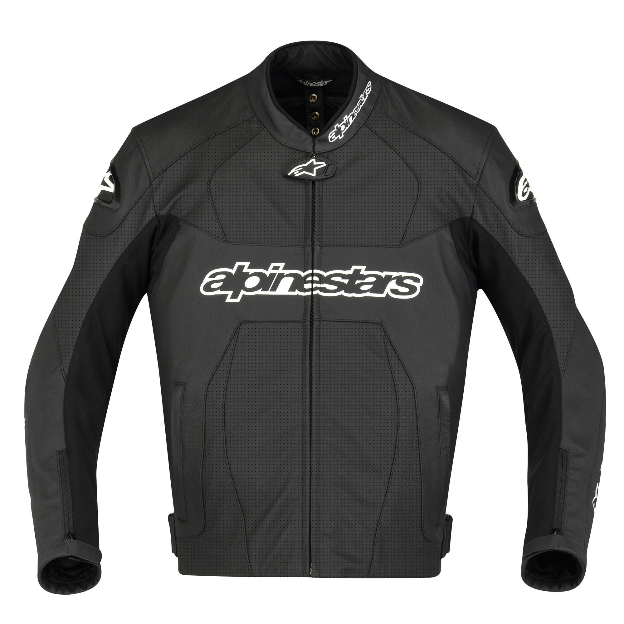 Alpinestars Motorcycle Jacket >> Alpinestars GP Plus Perforated Leather Jacket - Black
