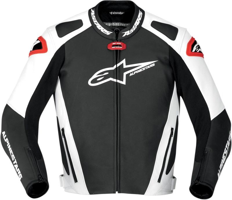 Alpinestars Motorcycle Jacket >> Alpinestars GP Pro Leather Jacket - Black / White / Red