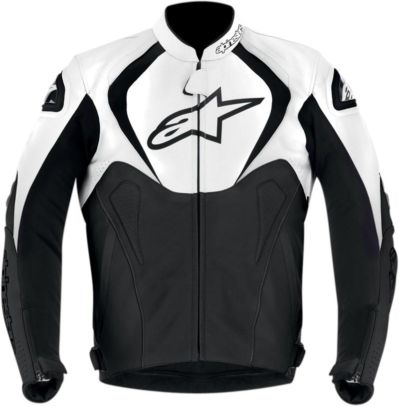 White leather riding jacket
