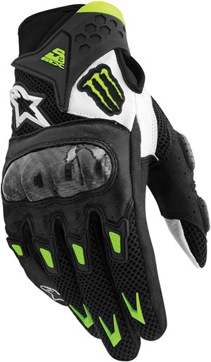 Alpinestars M10 Air Carbon Motorcycle Glove - Black / White / Green