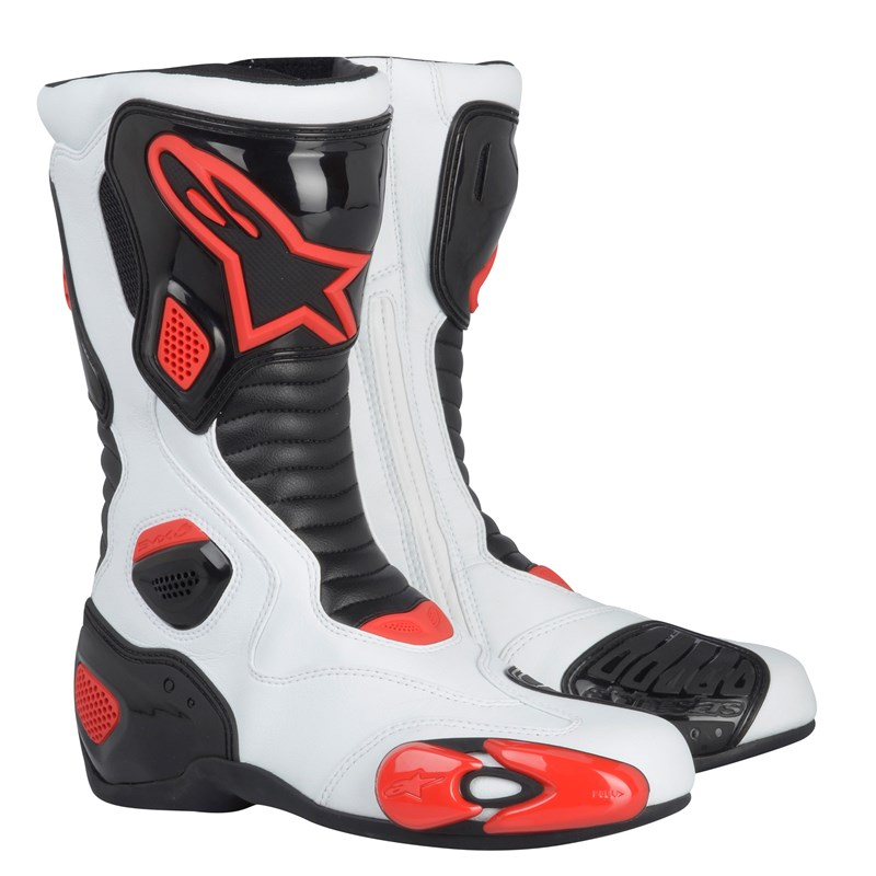 Alpinestars S-MX 5 Motorcycle Boots - White / Black / Red