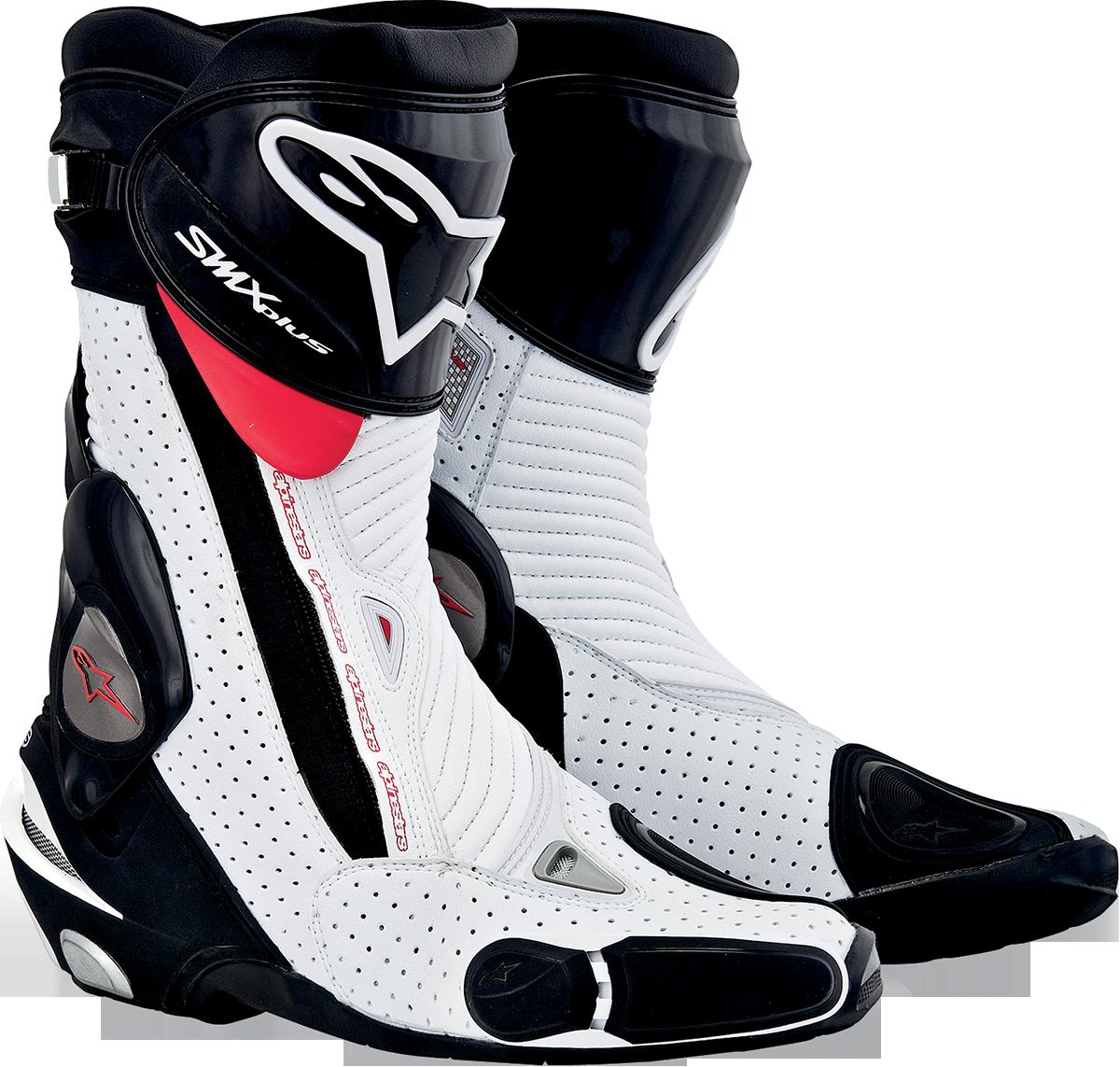 alpinestars smx plus vented motorcycle boot black white red. Black Bedroom Furniture Sets. Home Design Ideas