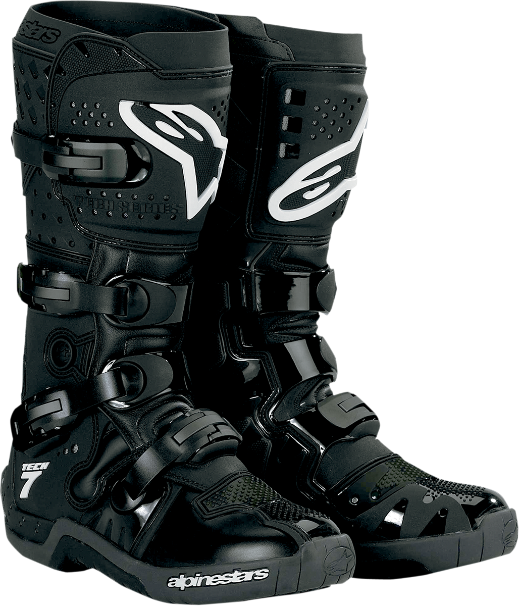Alpinestars Tech 7 Offroad Motorcycle Boots Black