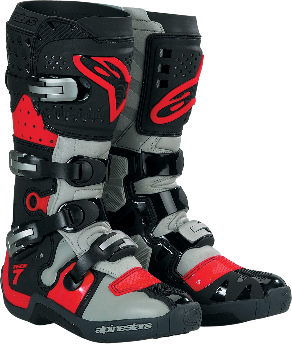 alpinestars tech 7 offroad motorcycle boots black red. Black Bedroom Furniture Sets. Home Design Ideas