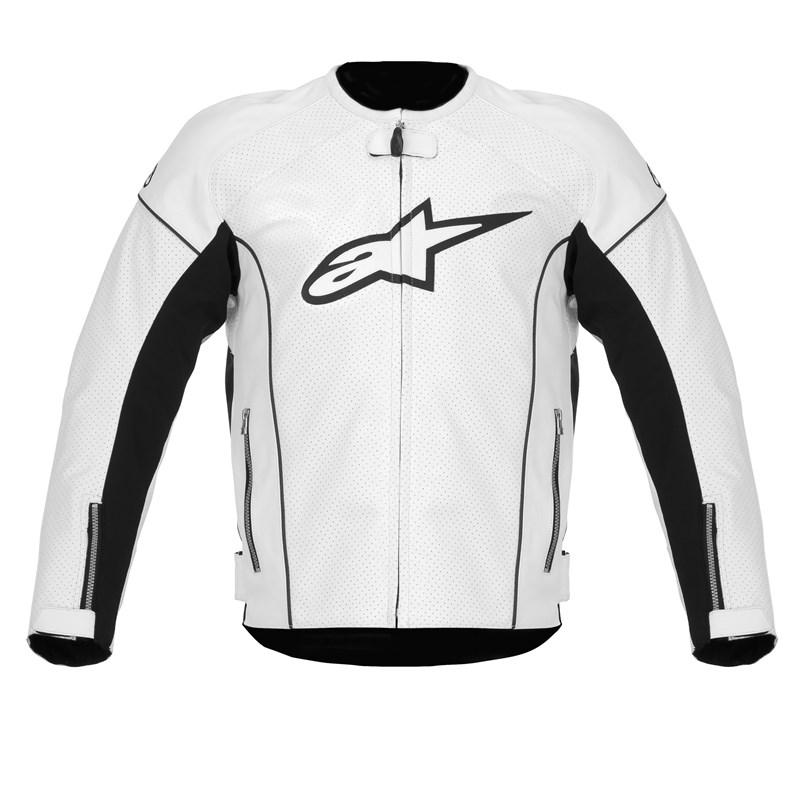 Alpinestars TZ-1 Reload Perforated Leather Jacket - Black