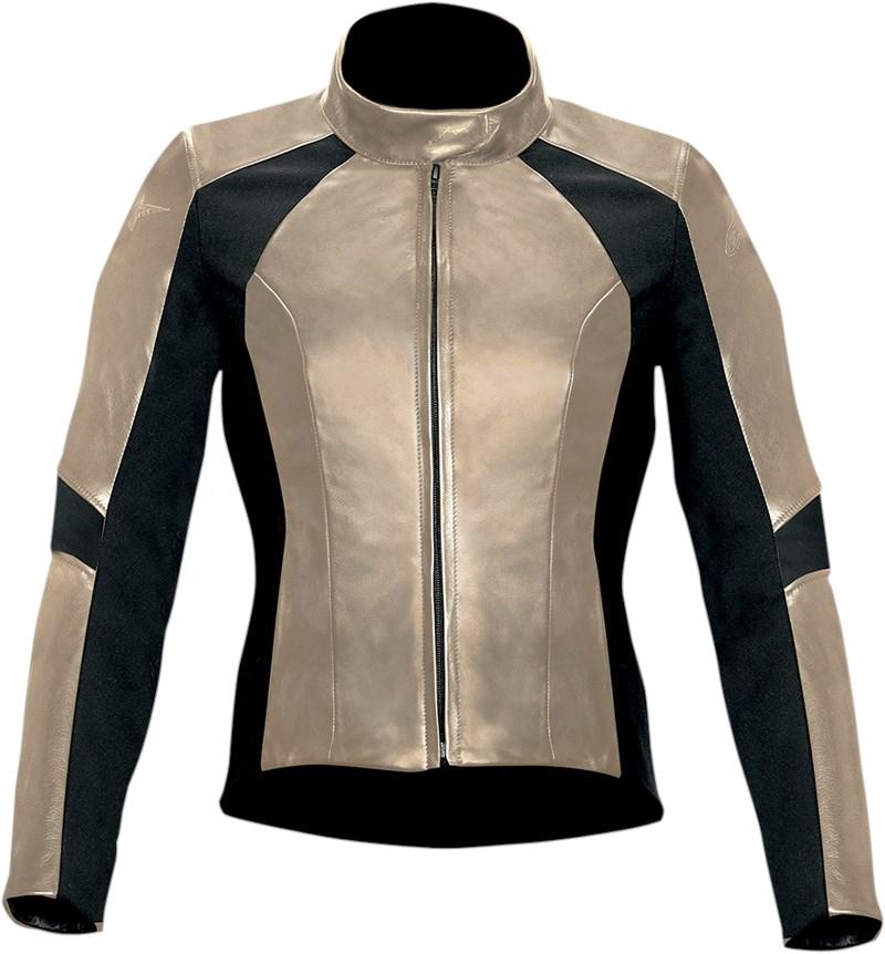 Alpine Motorcycle Gear >> Alpinestars Vika Women's Leather Motorcycle Jacket - Champagne