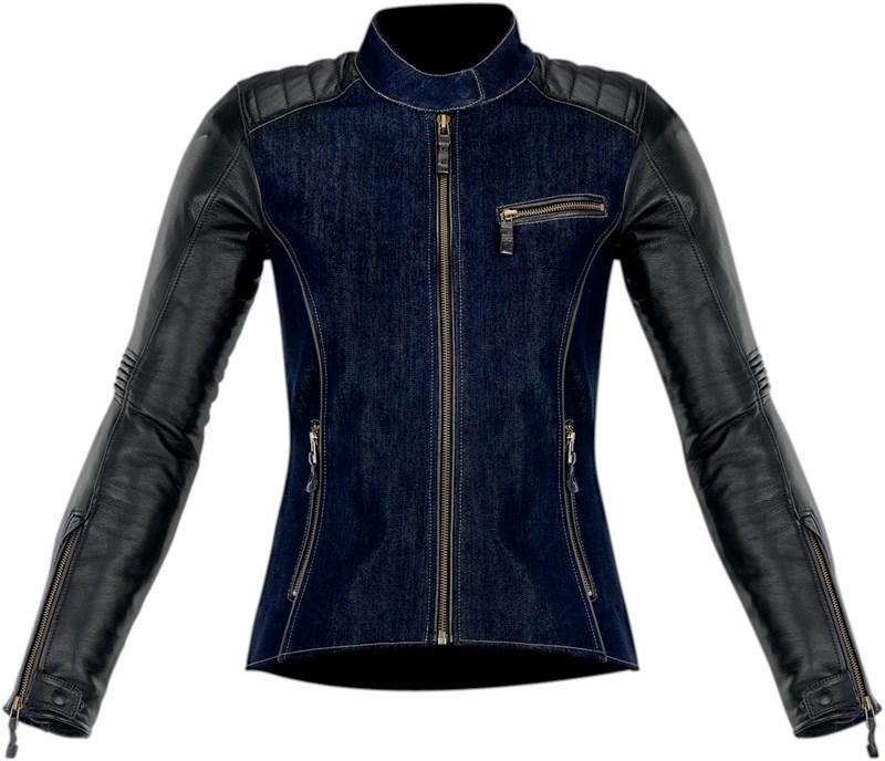 Alpinestars Leather Jacket >> Alpinestars Women's Renee Textile/Leather Motorcycle Jacket - Blue / Black