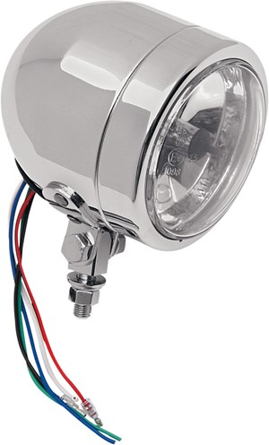 "Chrome 4.25"" Halogen Light with Running Lamp"