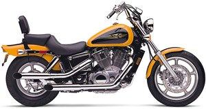 Cobra Slip-on Slashcut Mufflers - Honda Shadow Spirit 1100 (97-07)