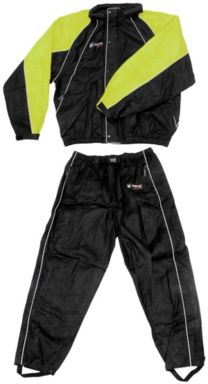 Frogg Toggs Hogg Togg Rainsuit - Black / Lime