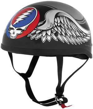 Grateful Dead Motorcycle Half Helmet - Flying Steal Your Face