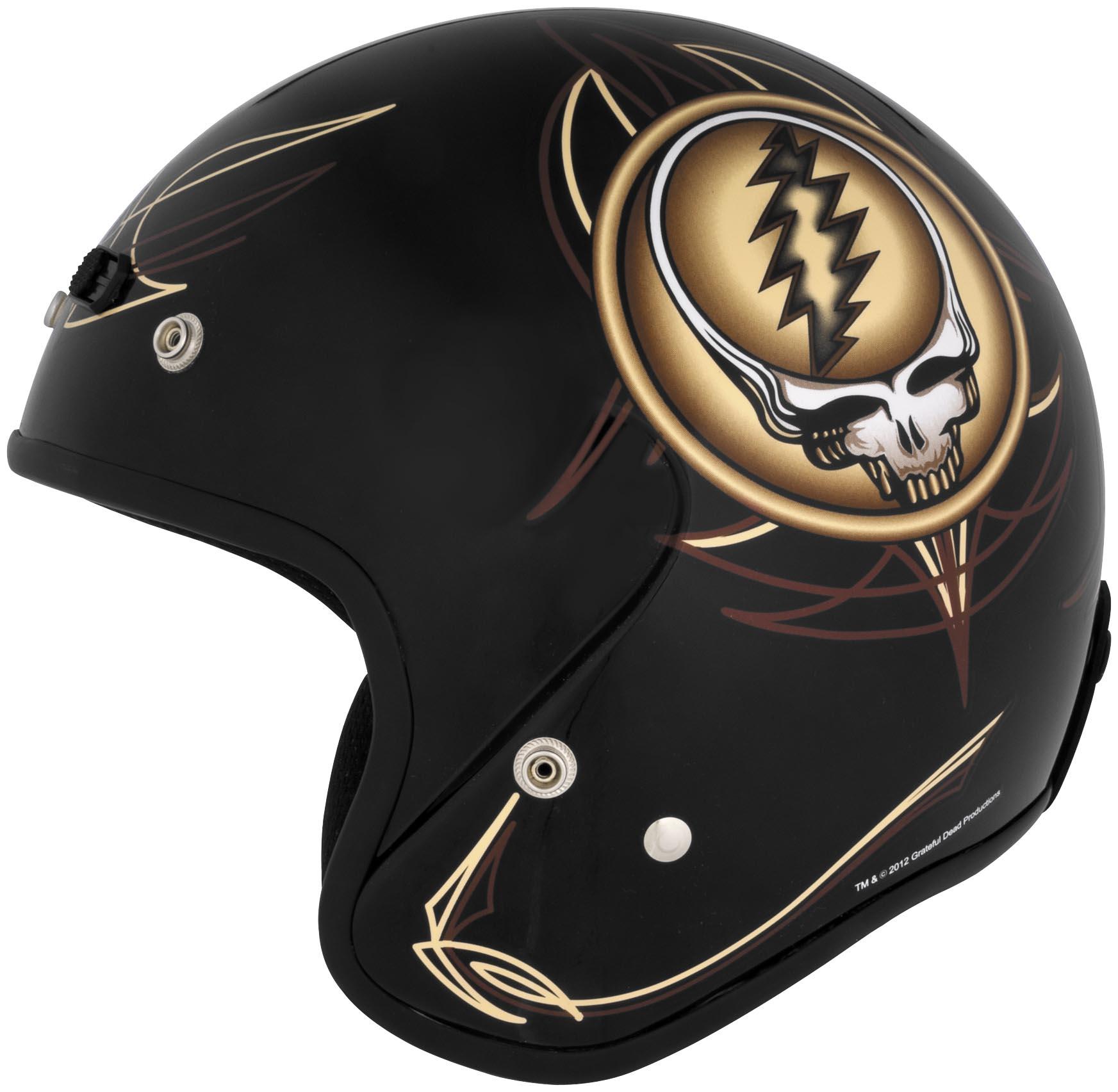 Grateful Dead Open Face Motorcycle Helmet Steal Your
