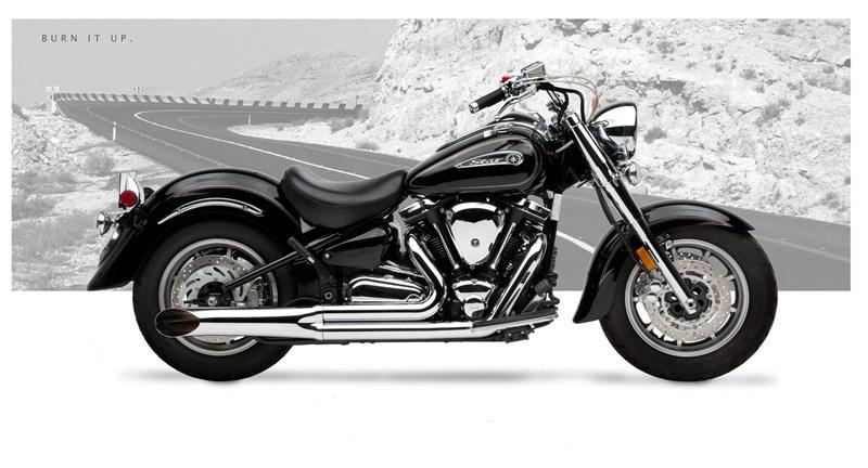 Hard Krome 2-into-1 Side Burners Exhaust - Yamaha Road Star 1600 / 1700  (99-11)