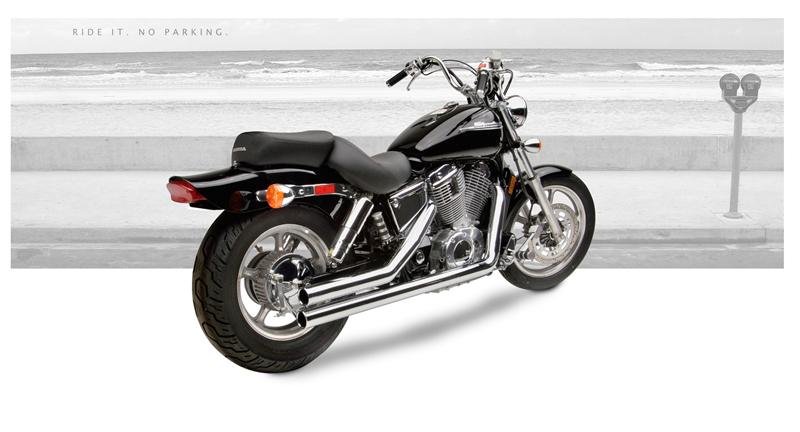 Hard Krome 25 American Classic Straights Honda Shadow Spirit