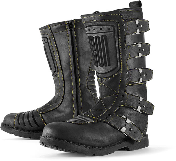 Icon 1000 Elsinore Motorcycle Riding Boots Black