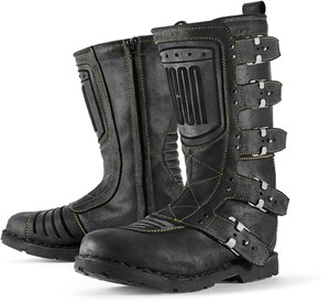 Icon 1000 Elsinore Motorcycle Riding Boots - Black