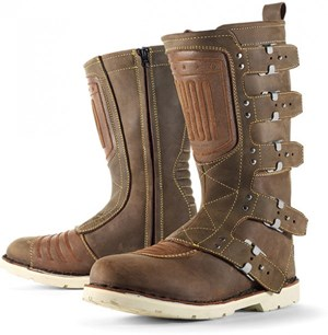 Icon 1000 Elsinore Motorcycle Riding Boots - Oiled Brown
